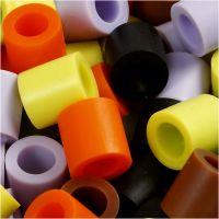 Rørperler, str. 10x10 mm, hulstr. 5,5 mm, JUMBO, efterårsmix, 3200 ass./ 1 pk.