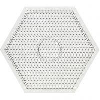 Perleplade, str. 15x15 cm, transparent, 1 stk.
