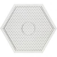 Perleplade, stor sekskant, str. 15x15 cm, 10 stk./ 1 pk.