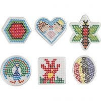 Perleplader, figurer, str. 7x7,5-10,5x9,5 cm, 6 stk./ 1 pk.