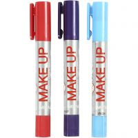 Playcolor Make up, lyseblå, lilla, rød, 3x5 g/ 1 pk.