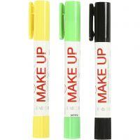 Playcolor Make up, sort, lys grøn, gul, 3x5 g/ 1 pk.