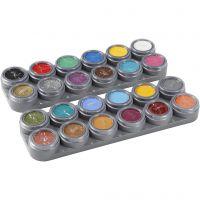 Grimas Ansigtsmaling - Sminkepalette, ass. farver, 24x2,5 ml/ 1 stk.