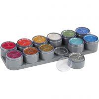 Grimas Ansigtsmaling - Sminkepalette, perlemorsfarver, 12x15 ml/ 1 stk.