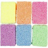 Soft Foam, neonfarver, 6x10 g/ 1 pk.