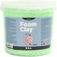 Foam Clay®, glitter, grøn, 560 g/ 1 spand