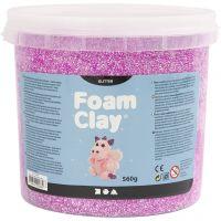Foam Clay®, glitter, lilla, 560 g/ 1 spand