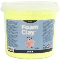 Foam Clay®, glitter, gul, 560 g/ 1 spand