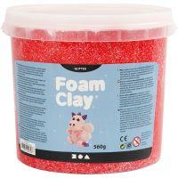 Foam Clay®, glitter, rød, 560 g/ 1 spand