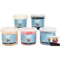 Foam Clay®, primærfarver, 5x560 g/ 1 pk.