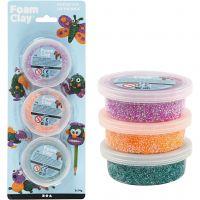 Foam Clay®, grøn, neon orange, lilla, 3x14 g/ 1 pk.