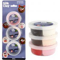 Silk Clay®, ass. farver, 6x7 g/ 1 pk.