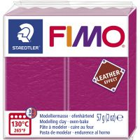 FIMO® Leather Effect , berry (229), 57 g/ 1 pk.