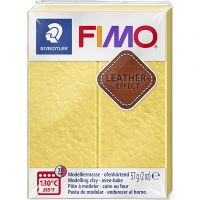 FIMO® Leather Effect , saffran yellow (109), 57 g/ 1 pk.