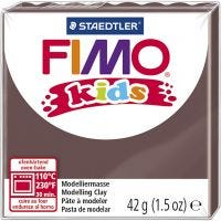 FIMO® Kids ler, brun, 42 g/ 1 pk.