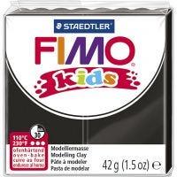 FIMO® Kids ler, sort, 42 g/ 1 pk.