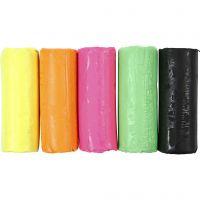 Soft Clay Modellervoks, H: 9,5 cm, neonfarver, 400 g/ 1 spand