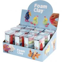 Foam Clay®, glitterfarver, metallicfarver, 12 sæt/ 1 pk.