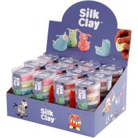 Silk Clay®, neonfarver, standardfarver, 12 sæt/ 1 pk.