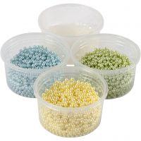Pearl Clay®, lyseblå, lys grøn, lys gul, 1 sæt, 3x25+38 g