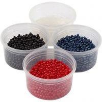 Pearl Clay®, sort, blå, rød, 1 sæt, 3x25+38 g