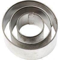 Udstiksforme, rund, str. 40x40 mm, 3 stk./ 1 pk.