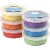 Foam Clay®, metallic, stærke farver, 6x14 g/ 1 pk.