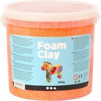 Foam Clay®, neon orange, 560 g/ 1 spand