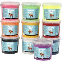 Foam Clay®, ass. farver, 10x560 g/ 1 pk.