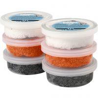 Foam Clay®, sort, orange, hvid, 6x14 g/ 1 pk.