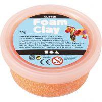 Foam Clay®, glitter, orange, 35 g/ 1 ds.