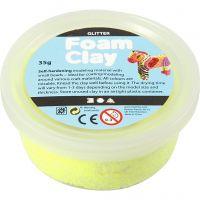 Foam Clay®, glitter, gul, 35 g/ 1 ds.