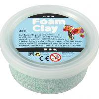 Foam Clay®, glitter, lys grøn, 35 g/ 1 ds.