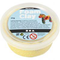 Foam Clay®, metallic, gul, 35 g/ 1 ds.
