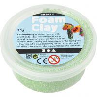 Foam Clay®, metallic, grøn, 35 g/ 1 ds.