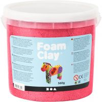 Foam Clay®, metallic, rød, 560 g/ 1 spand