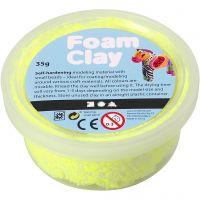 Foam Clay®, neon gul, 35 g/ 1 ds.