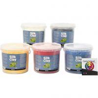 Silk Clay®, primærfarver, 5x650 g/ 1 pk.