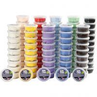 Silk Clay®, ass. farver, 10x10 ds./ 1 pk.