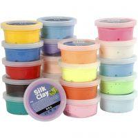 Silk Clay®, ass. farver, 20x40 g/ 1 pk.