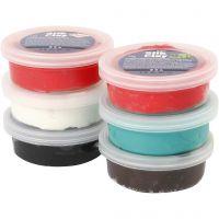 Silk Clay®, julefarver, 6x14 g/ 1 pk.