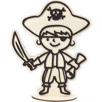 Dekorationsfigur, pirat, H: 19 cm, 1 stk.