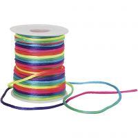 Knyttesnor, tykkelse 2 mm, regnbuefarver, 40 m/ 1 rl.