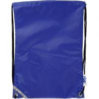 Rygsæk, str. 31x44 cm, blå, 1 stk.