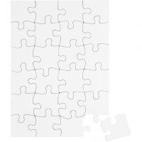 Puslespil, str. 15x21 cm, hvid, 16 stk./ 1 pk.
