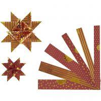 Stjernestrimler, diam. 6,5+11,5 cm, B: 15+25 mm, 48 strimler/ 1 pk.