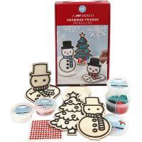 Snemand og juletræ, 1 sæt