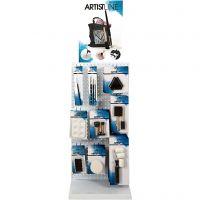 Artist Line maletilbehør, H: 850 mm, dybde 300 mm, B: 400 mm, 78 enh./ 1 pk.