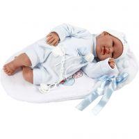 Babydukke, H: 44 cm, lyseblå, 1 stk./ 1 pk.