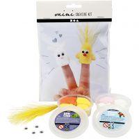 Kreativt Minikit, fingerdukker, 1 sæt